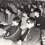 Команда ФМШ №18 на XI ТЮФ. 1989 г. Руководитель команды А.В.Белов